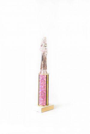 Pretty in Pink Round Column Trophy