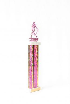Pretty in Pink Series Wide Column Trophy