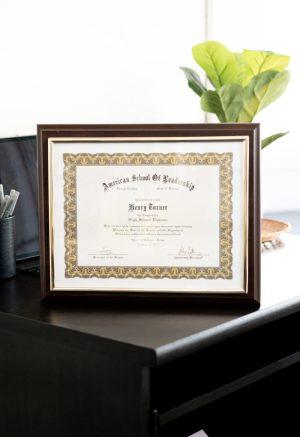 Gold Frame Certificate Plaque