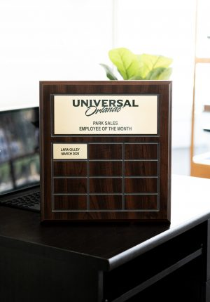 Grooved Sublimated Annual Plaque