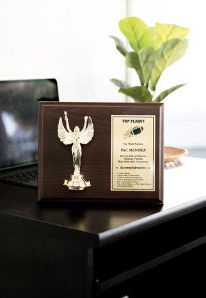 Horizontal Trophy Figure Plaque