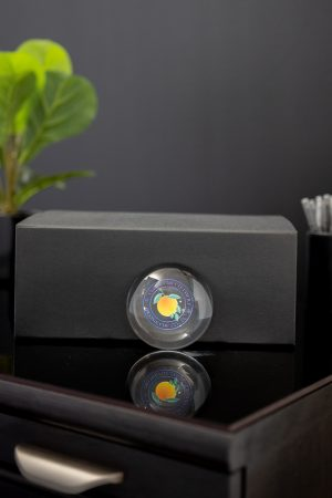Optic Crystal Magnifier Paperweight with Full Color Print