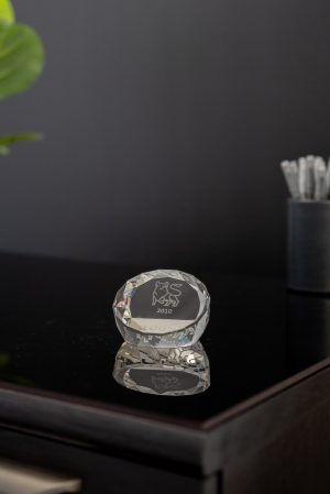 Multifaceted Optic Crystal Paperweight