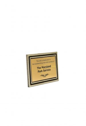 4″X6″ Gold and Black Frame with Engraved Insert