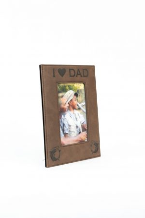 Dark Brown Leatherette Picture Frame