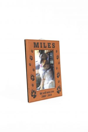 Rawhide Leatherette Picture Frame