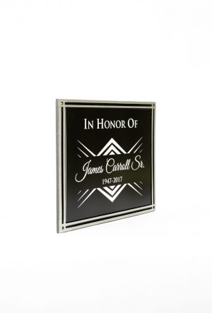 8″X10″ Black and Silver Frame with Engraved Insert