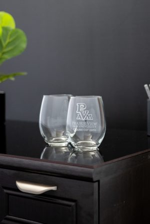 Stemless Wine Glasses Set of 2