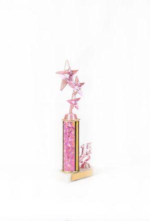 Pretty in Pink Series Round Column with Trim Trophy