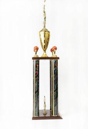 4 Post Trophy with Wood Slant Base