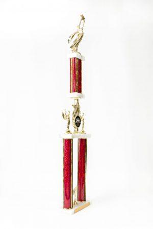 2 Post Star Series Logo Wide Column Trophy