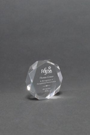 Octagon Acrylic Paperweight