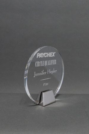 Acrylic Circle Award on Chrome Base
