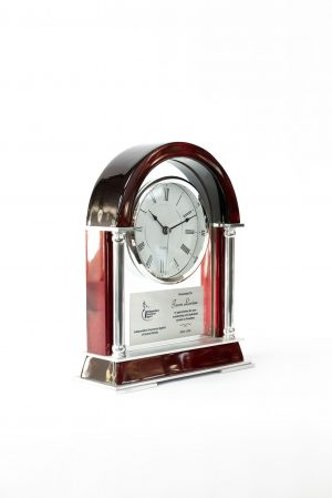 Rosewood Skeleton Mantle Clock