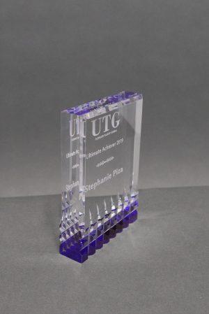 Acrylic Block with Purple Reflective Bottom