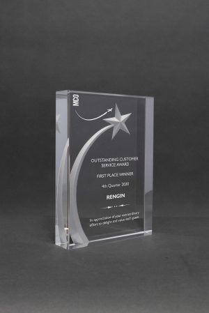 3D Carved Rising Star