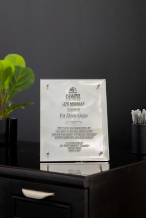 Digital Color Glass Standoff Plaque