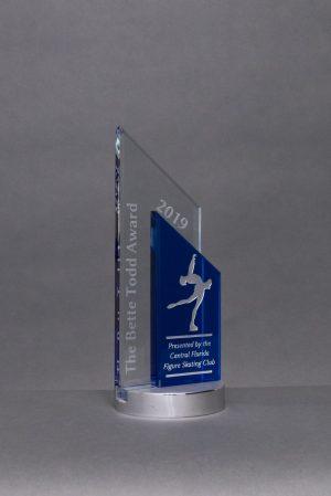 Blue and Clear Crystal Pinnacle Award