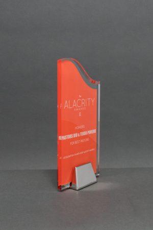 Acrylic Wave on Chrome Base with Digital Print